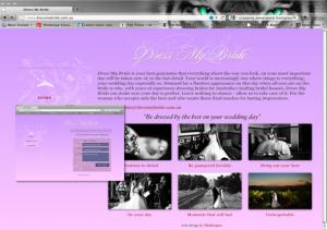Dress My Bride website